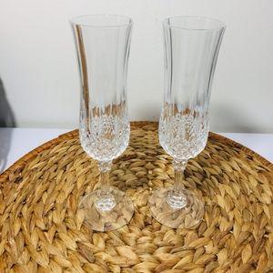 Other - Vintage, Set of 2 D'arques Longchamp crystal glass